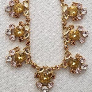 J Crew Pale Yellow Crystal Necklace